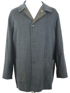 d07bbef4 Details about Ermenegildo ZEGNA Reversible Gray Cashmere Wool/Polyester  Jacket Car Coat XL 54