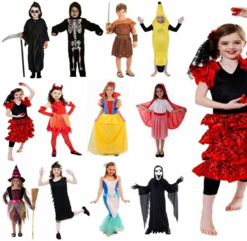 BOYS GIRLS CHILDRENS KIDS CLEARANCE HALLOWEEN PARTY FANCY DRESS COSTUME OUTFIT