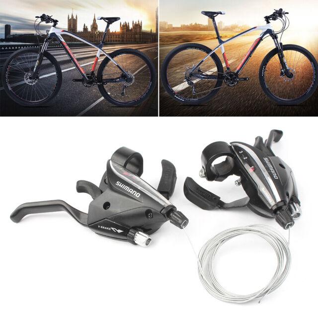 MTB Mountain Bike Road Bicycle 3x7//3x8//3x9 Speed Shifter Shift Brake Levers Set