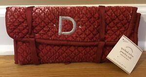 Image Is Loading New Pottery Barn Quilted Red Velvet Silk Jewelry
