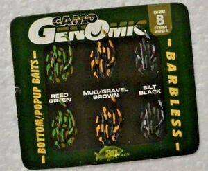 CAMO GENOMIC MICRO BARB  BOTTOM-POPUP BAITS CARP HOOKS Size 4