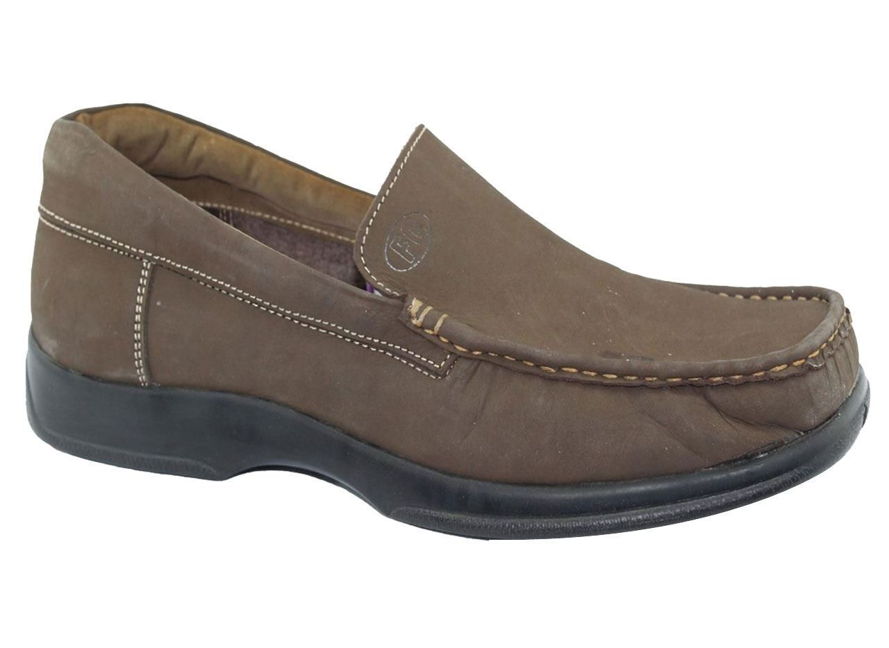 Mens Slip On Brown Shoes Causal Driving Walking Comfort Brown On Loafer Boots 8c7b30