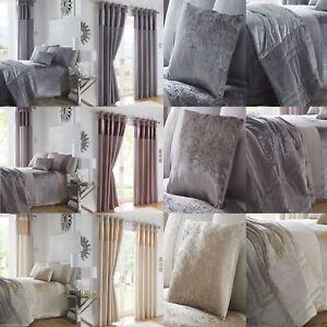 Boulevard Duvet Quilt Cover Set Bedding Linen Crushed Velvet
