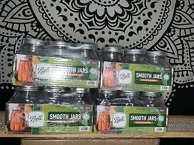 LOT OF 2 Ball Smooth Mason Jars Lids//Bands Regular Mouth 16oz pint 12 Count