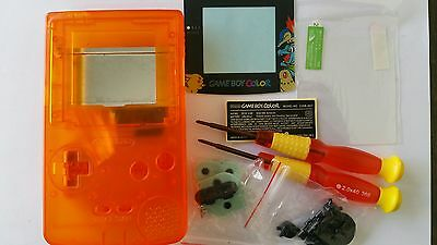 Faceplates, Decals & Stickers It Video Games & Consoles Phonecaseonline Carcasa Gameboy Color Pokemon Clear Orange New Consumers First