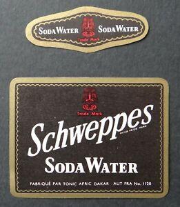 Etiquette-SODA-WATER-SCHWEPPES-Tonic-Afric-Dakar-Senegal-label