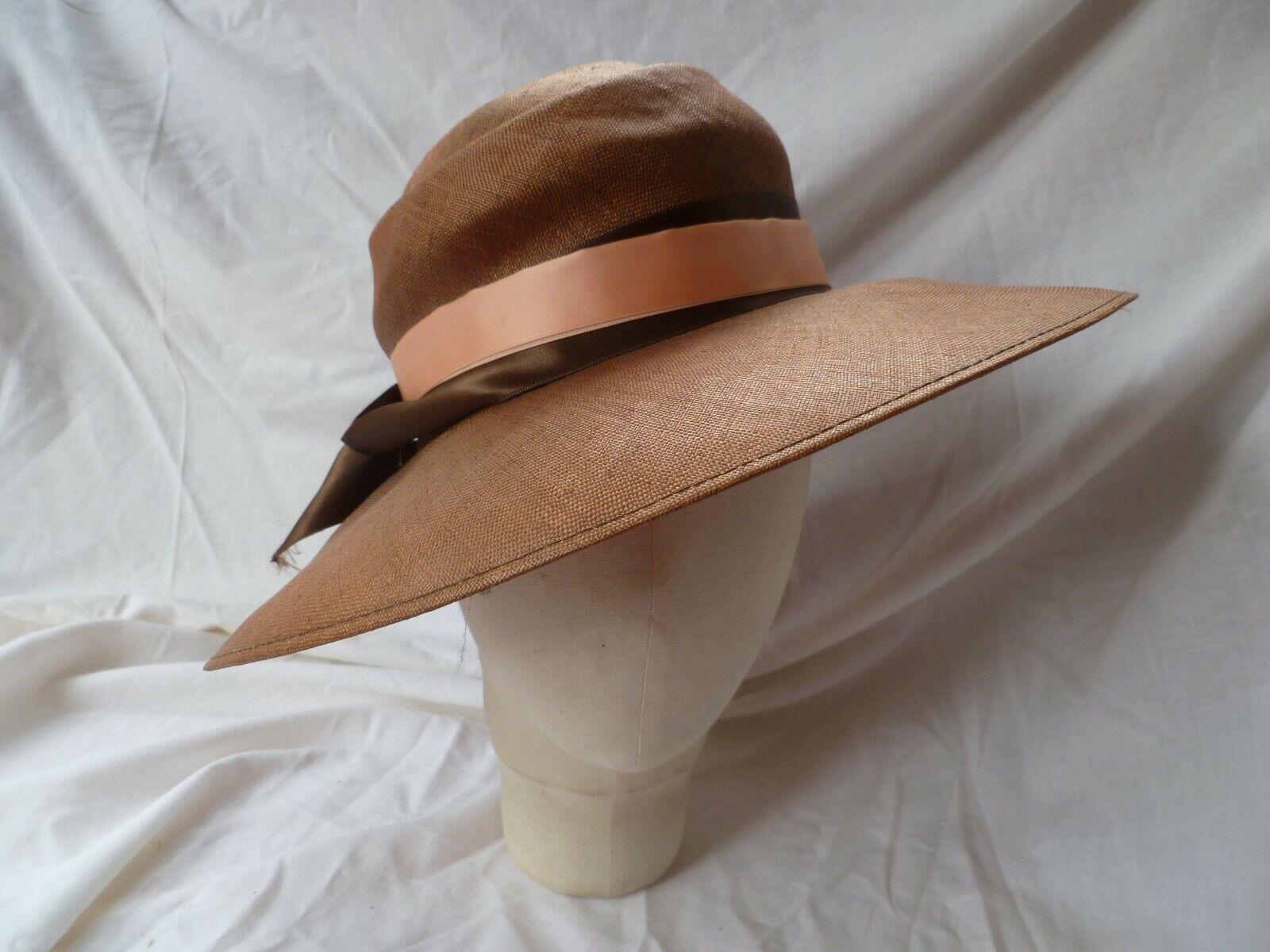 'Peter Bettley' Rust/Copper Sisal Straw Hat 56cms