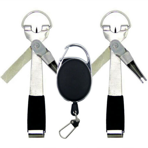 4 in 1 Fly Fishing Quick Knot Tool Line Cutter Nipper Zinger Retractor Clippers