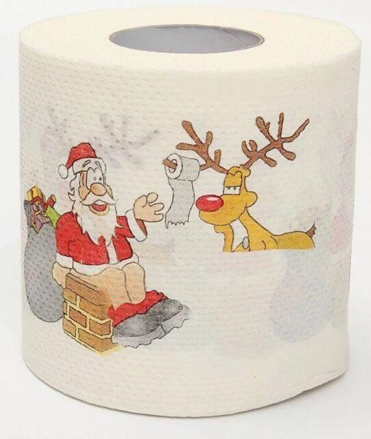 2020 Christmas Supplies Xmas Home Tool Santa Claus Paper Roll Bath Nice Q5N4