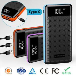 Portable-500000mAh-LCD-Power-Bank-External-3-USB-Battery-Charger-For-Cell-Phone