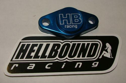 Hellbound Racing parking brake blockoff Suzuki LTR450 BLUE