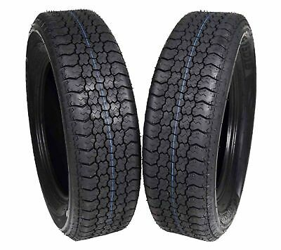 Two Trailer Tires On Rims ST205//75D15 F78-15 205//75-15 LRC 5 Lug White Spoke
