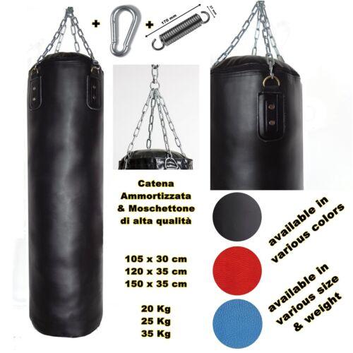 sacco boxe di qualità vari pesi misure punching bag allenamento cardio muay thai