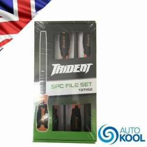 Trident Tools T271152 Mechanics Engineers 5 Piece File Set Flat Round