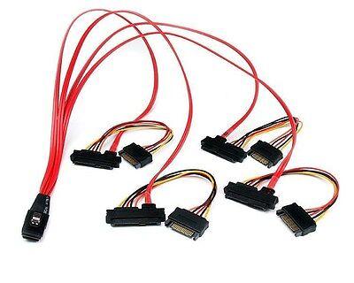 StarTech.com Intern Serie Befestigt SCSI Mini SAS Kabel SFF8087 zu 4x SFF8482