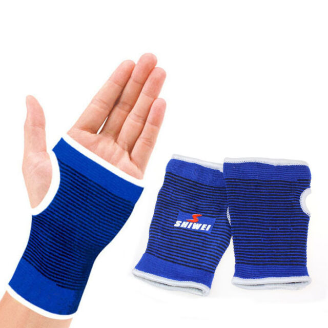 Gym Sports Flexible Support Wrist Gloves Hand Palm Gear Protector Elastic Brace
