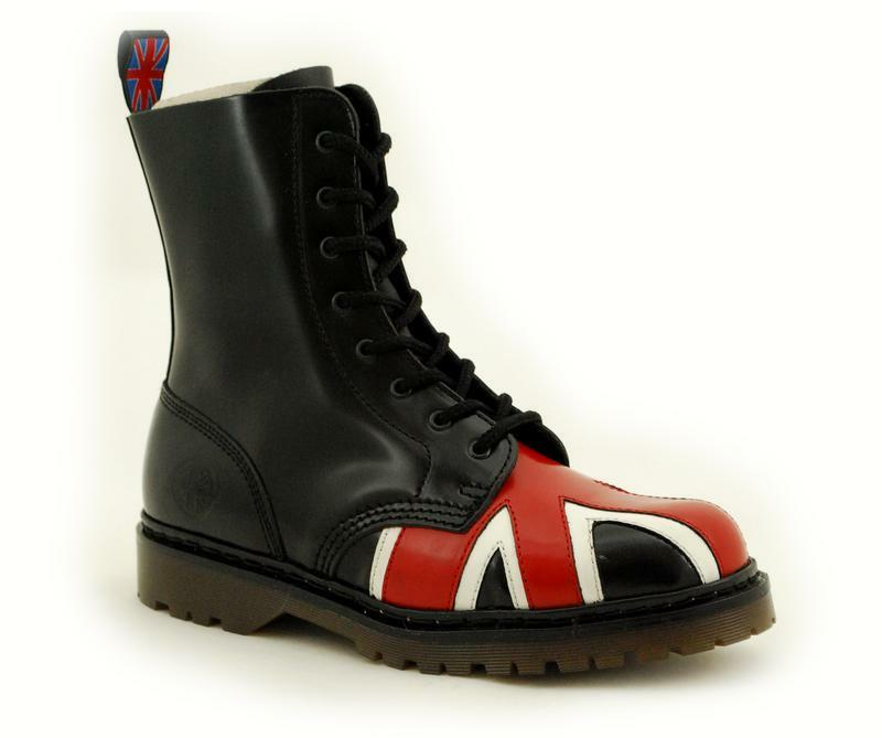 Nevermind 8 Loch Boots Bombay Union Jack 46-120080-8 !Kein Fernost Import!