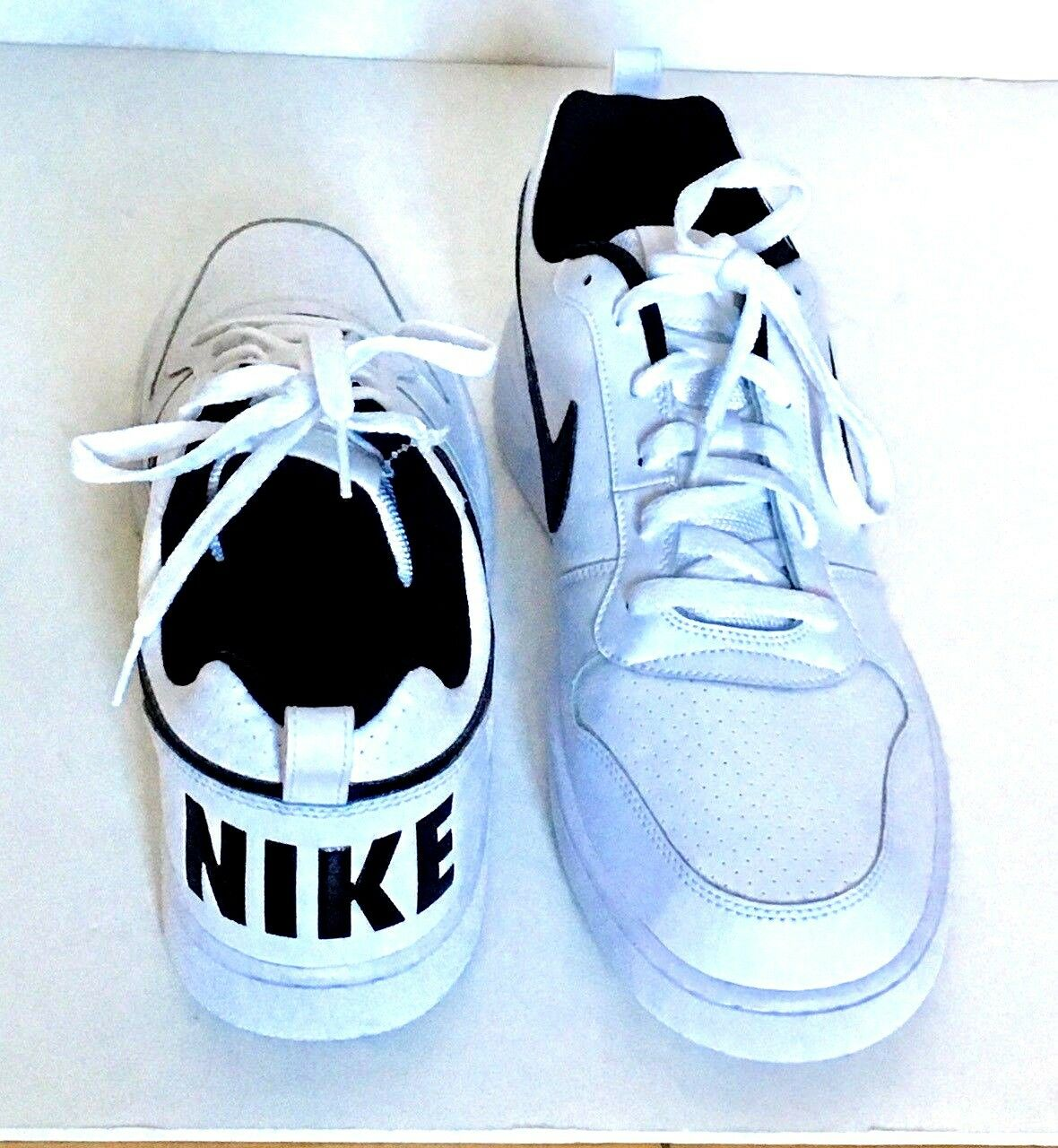 2b5884407f9bb ... Nike Court Borough Low Low Low White Black Mens size 13 602086 ...