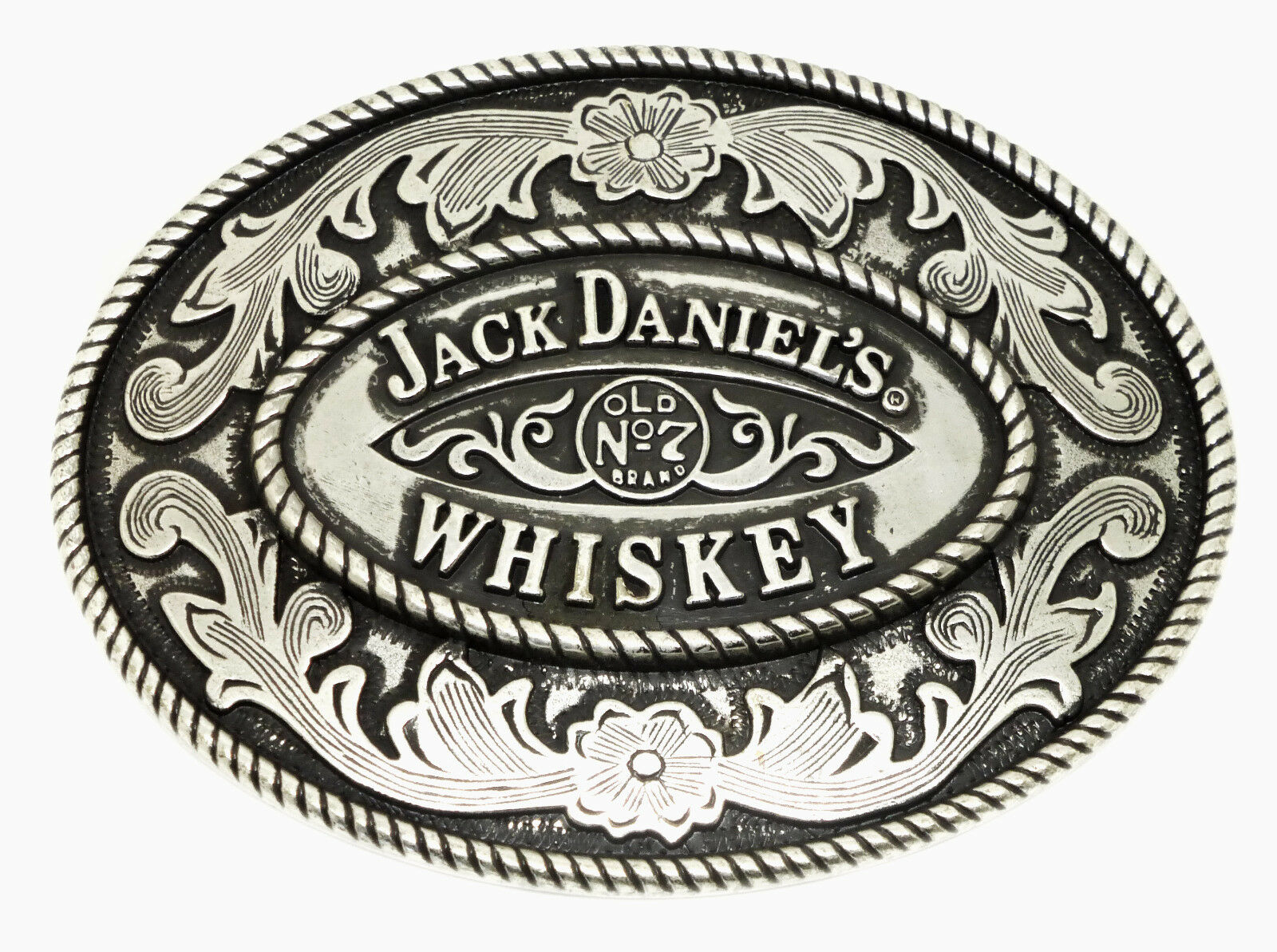 Jack Daniel`s Belt Buckle Old No 7 Brand Oval Authentic Officially Licensed