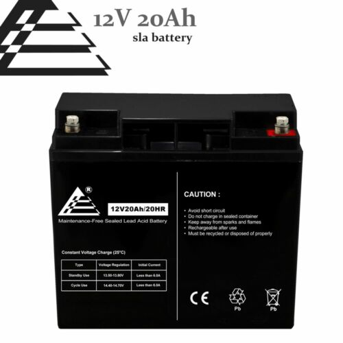 New 12V 20AH (18Ah) AGM Sealed Lead Acid Universal Rechargeable SLA Battery