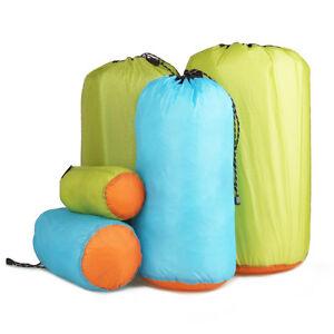 Waterproof Nylon Drawstring Bag Clothes Camping Bucket Barrel ...