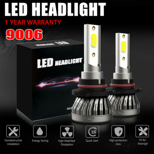 LED Headlight Kit 9006 HB4 6500K White Fog Light Bulbs SUBARU Outback 2000-2009