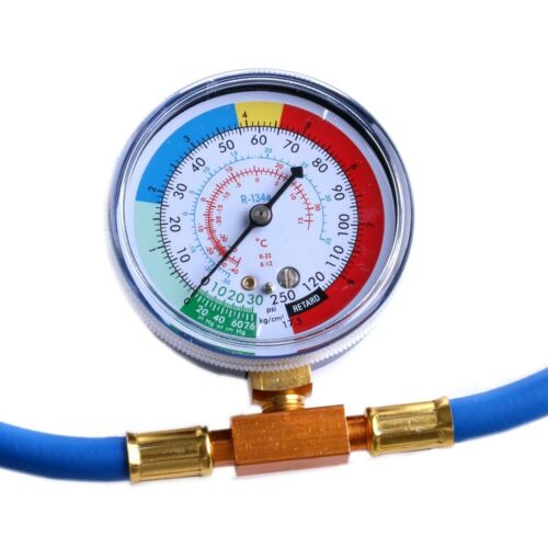 R134a Recharge Measuring Hose Gauge Adapter A//C Refrigerant Charging Pipe