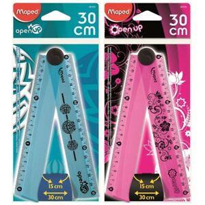 1-x-Maped-Folding-Ruler-Foldable-Ruler-15cm-30cm-Ruler-School-Stationery