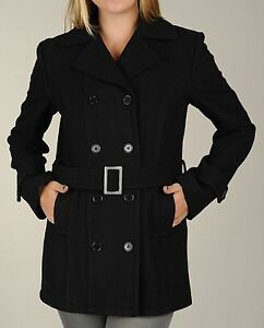 double New en Manteau Peacoat femme mélangée laine boutonnage à pour Maxxsel d7tgn4qt