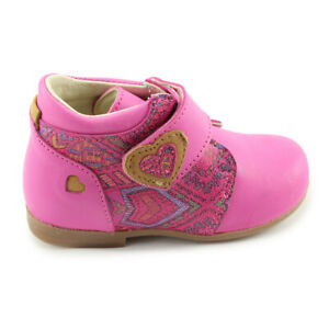 Made In Pol Bright Luster 13-1511 Amarant Bright Renbut Girls Pink Orthopedic Support Leather Shoes