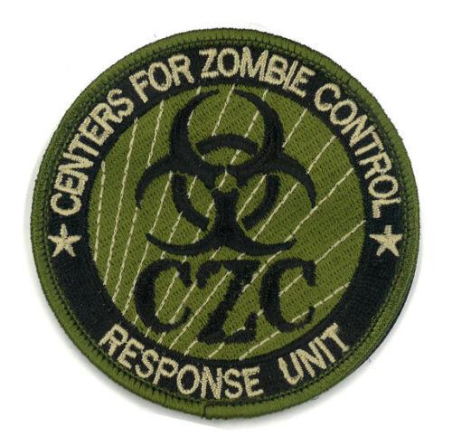 CZC Zombie Control Patch Response Unit Task Force Costume pvc Army Badge Morale