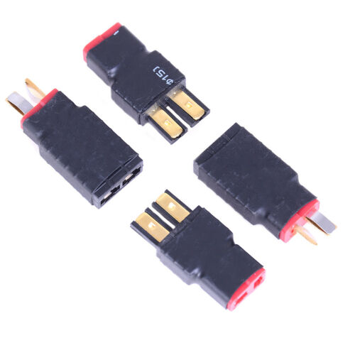 2x Wireless Female for Traxxas to T-Plug Deans Style Connector battery Adapter Z