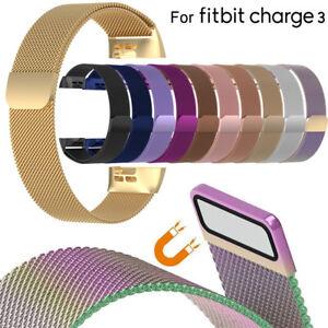 bande-de-remplacement-watch-l-039-acier-inoxydable-bracelet-For-Fitbit-Charge-3