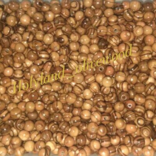 5000 ~Olive Wood~ 8mm ~Round Beads Polished Rosary Jewelry