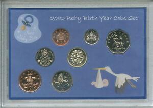 New-Born-Baby-Boy-Coin-Gift-Set-2002-Parent-Mum-amp-Dad-Birth-Keepsake-Present
