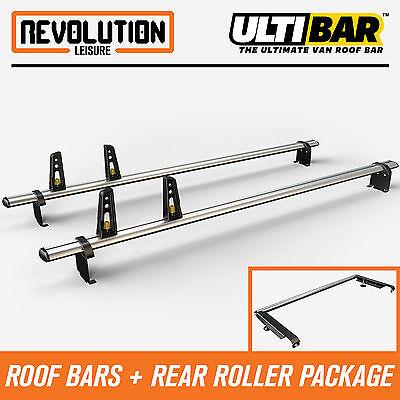 01-14 Van Guard Ulti Bar 2 Bar Roof Rack and Rear Ladder Roller Kit for Vauxhall Vivaro