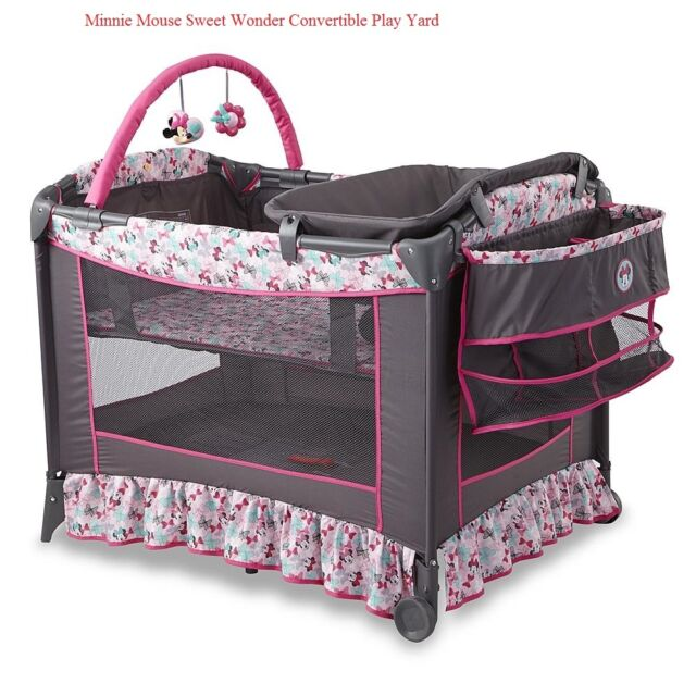 Disney Baby Bassinet Convertible Safety Minnie Mouse ...