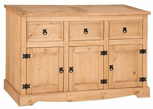 Corona Sideboard Large 3 Door 3 Drawer by Mercers Furniture®