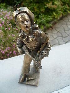 Sculpture-en-bronze-Pierrot-22-cm