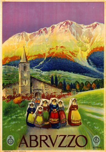 Abrvzzo Italy Vintage Art Travel Advertisement Poster Picture Print