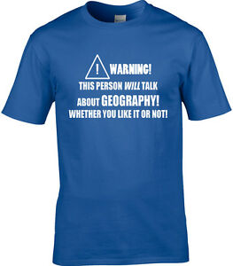 6293ebb3 Geography Mens T-Shirt Subject Places Teacher School Lecturer Funny ...