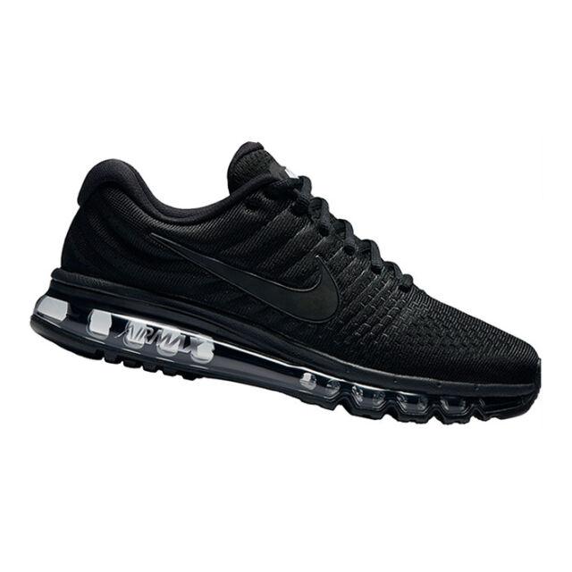 "9ee6fa3b541771 NIKE AIR MAX 2017 ""Black Edition"" Herren Sneaker Running-Schuhe Schwarz"
