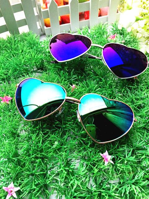 2016 Vintage Men Women Round heart-shaped Metal Frame Sunglasses Glasses Eyewear