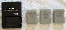 NEW Genuine Nikon MH-24 & 3 Pieces of EN-EL14a batteries for Df, D5500, & D3300