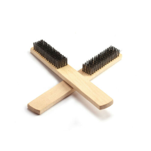 2Pc Grade Stainless Steel Wire Brush for Paint Removal Cleaning Metal Polishing