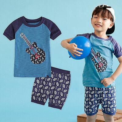 "Vaenait Baby Infant Kids Boy Short Pajama set Outfit Clothes /""Navy eyes/"" 2T-5T"