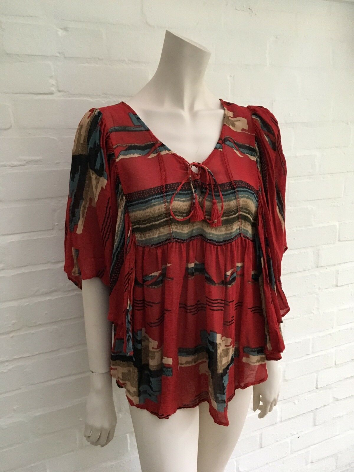 Denim & Supply by Ralph Lauren women's Linen Boho tunic top size M medium