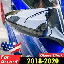 Pair For Honda Accord 2018 2020 Glossy Black Ox Horn Rear View Mirror Cover Trim Fits Honda