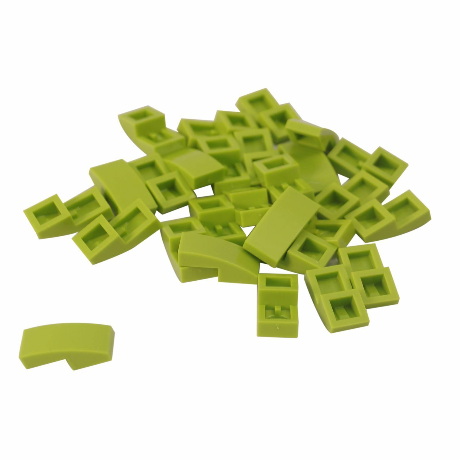 LEGO 11477 20 Or 50 Pieces 10 NEW Green 1x2 Curved Slope