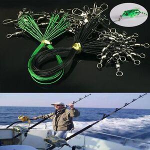 20PCS-Anti-mordedura-Alambre-De-Cuerda-Linea-De-Pesca-Anzuelo-Seguridad-Snap